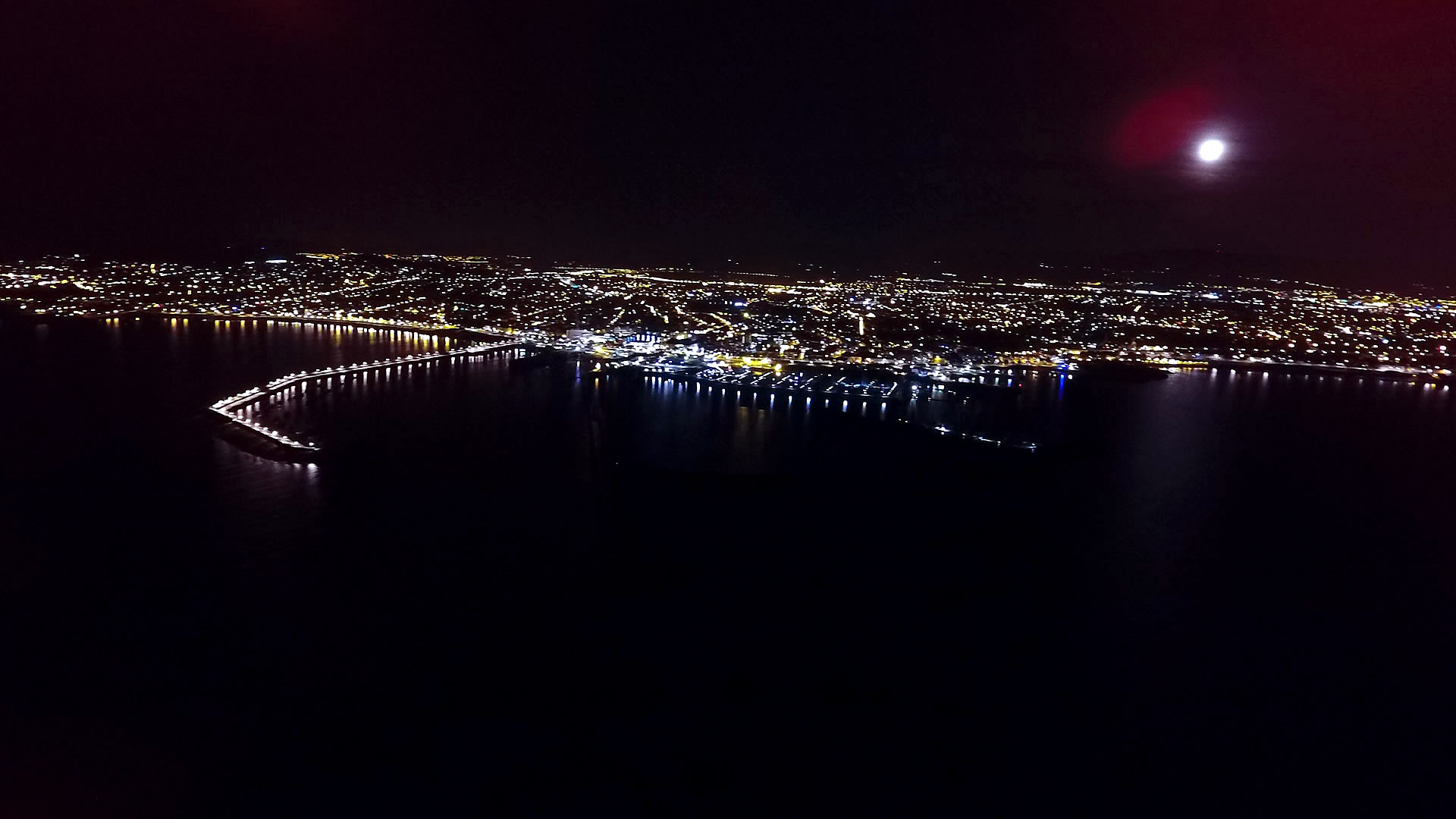 Dun Laoghaire Pier at Night