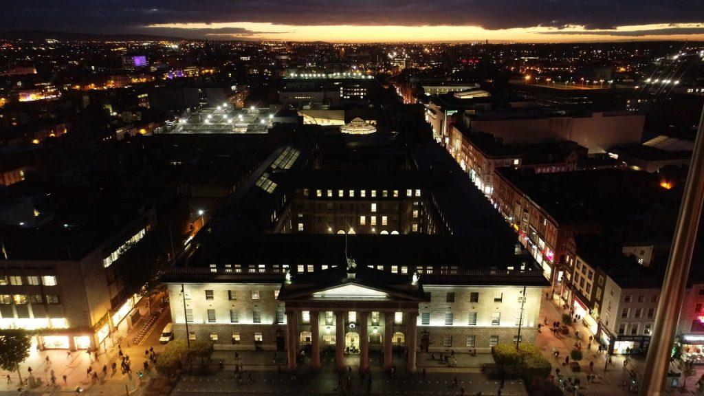 GPO Dublin at Night
