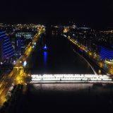 Liffey River CCD + Harp Bridge